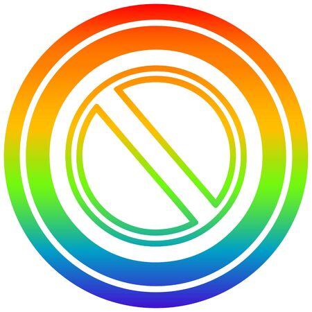 generic stop circular icon with rainbow gradient finish