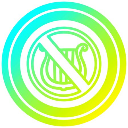 no music circular icon with cool gradient finish Illusztráció