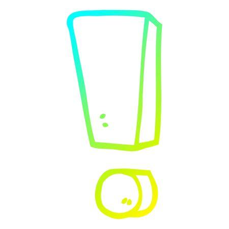 cold gradient line drawing of a cartoon exclamation mark Foto de archivo - 130427712