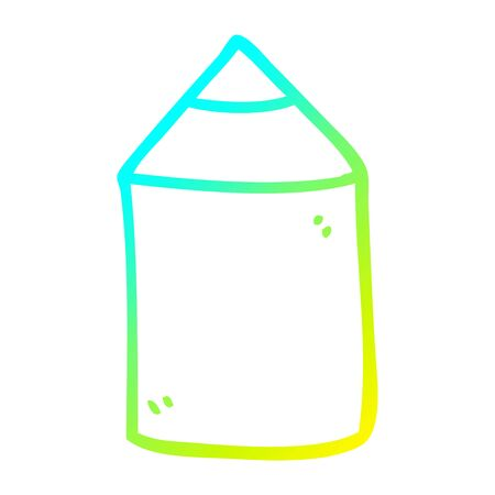 cold gradient line drawing of a cartoon colored pencil Banque d'images - 130507556