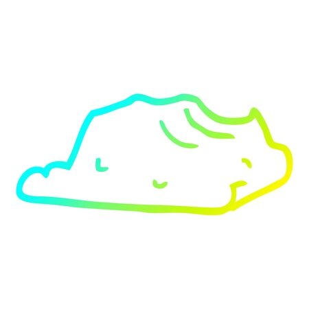 cold gradient line drawing of a cartoon butter Illustration