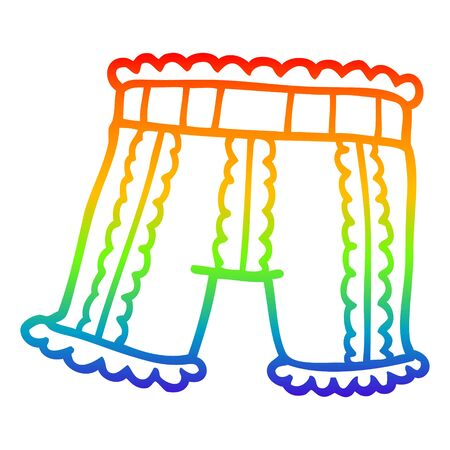 rainbow gradient line drawing of a cartoon underwear Ilustrace