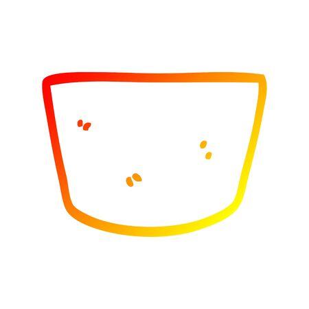warm gradient line drawing of a cartoon pot