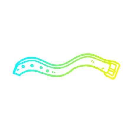 cold gradient line drawing of a cartoon belt Ilustracja