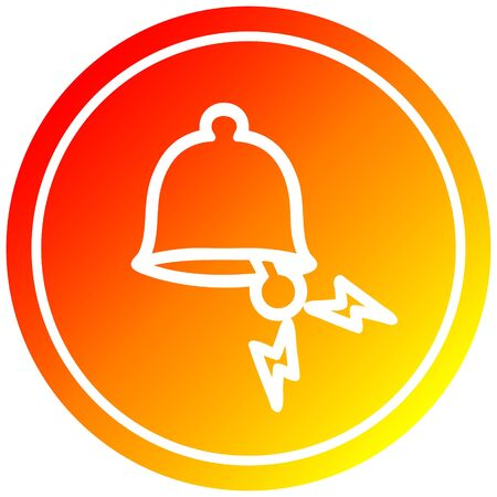 ringing bell circular icon with warm gradient finish 写真素材 - 130517106