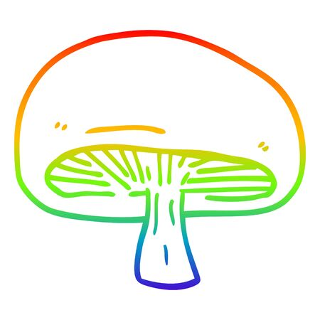 rainbow gradient line drawing of a cartoon mushroom Stock fotó - 130564074