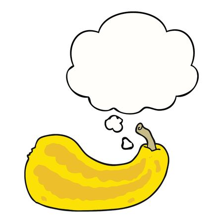 cartoon squash with thought bubble