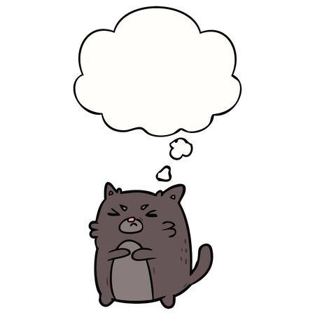 cartoon angry cat with thought bubble Zdjęcie Seryjne - 130566798