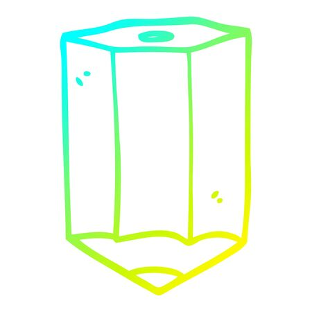 cold gradient line drawing of a cartoon colored pencil Banque d'images - 130567154