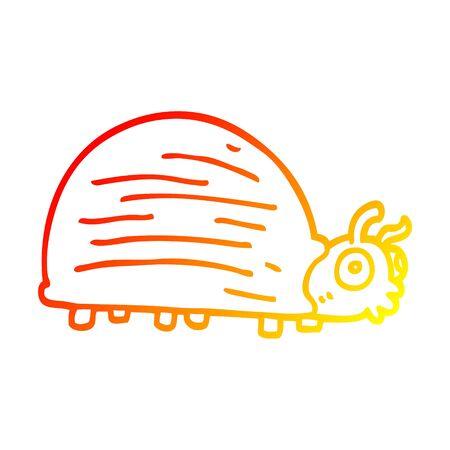 warm gradient line drawing of a cartoon huge beetle Foto de archivo - 130567264