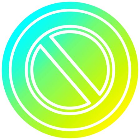 generic stop circular icon with cool gradient finish Illusztráció