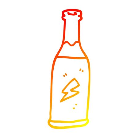 warm gradient line drawing of a cartoon unhealthy drink