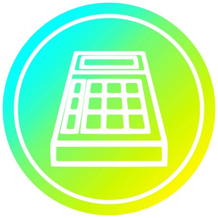 math calculator circular icon with cool gradient finish 스톡 콘텐츠 - 130577136