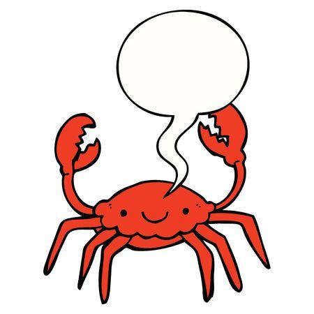 cartoon crab with speech bubble