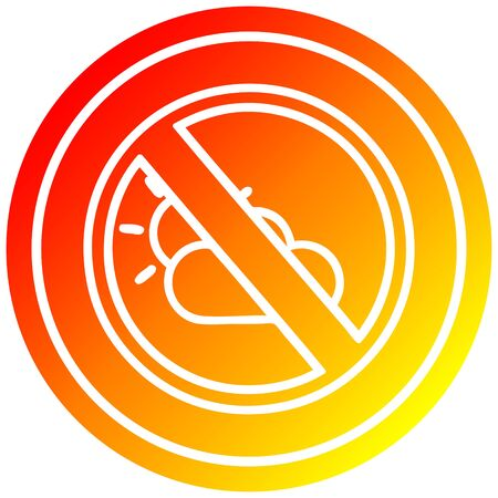 no weather circular icon with warm gradient finish Illusztráció