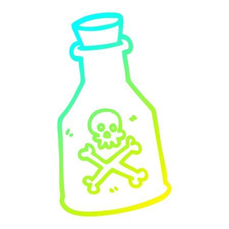 Kalte Farbverlaufslinie Zeichnung eines Cartoon-Gifts