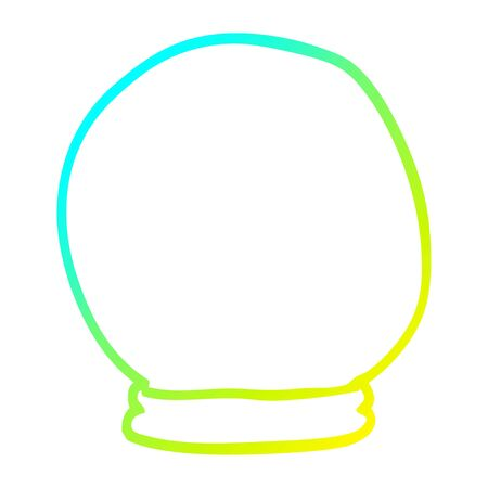 cold gradient line drawing of a cartoon crystal ball Archivio Fotografico - 130577682