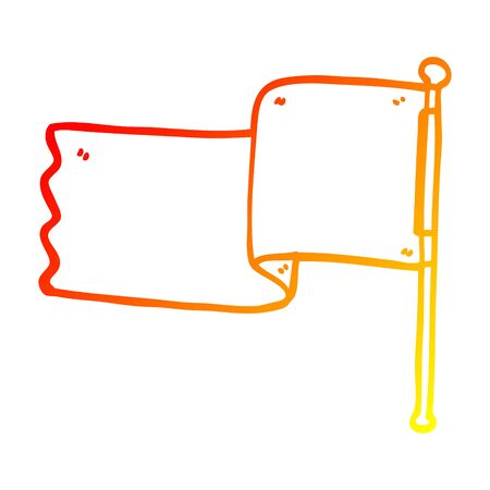 warm gradient line drawing of a cartoon red flag Banco de Imagens - 130577734
