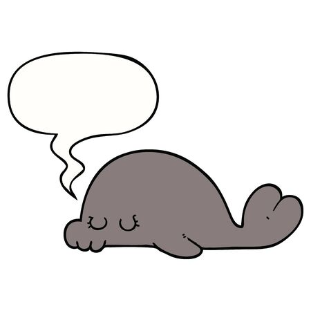 cartoon seal with speech bubble