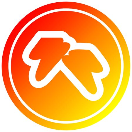 lightning bolts circular icon with warm gradient finish