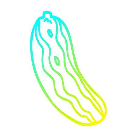 cold gradient line drawing of a cartoon marrow plant 일러스트