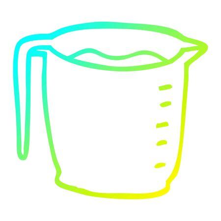 cold gradient line drawing of a cartoon jug Stock fotó - 130604650