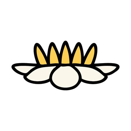 tattoo in traditional style of a lily pad flower