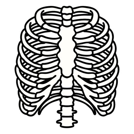 tattoo in traditional style of a rib cage