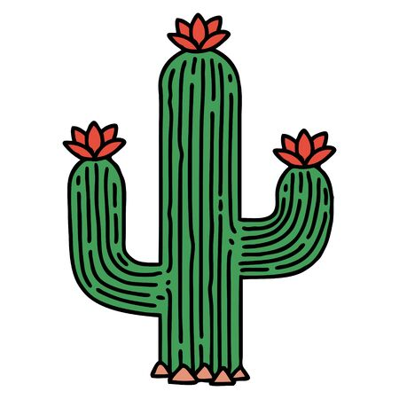 tattoo in traditional style of a cactus