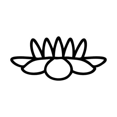 tattoo in black line style of a lily pad flower