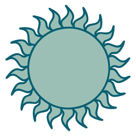 iconic tattoo style image of a sun 向量圖像