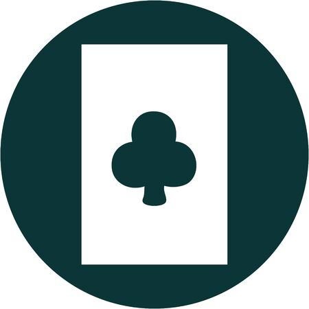 iconic tattoo style image of the ace of clubs