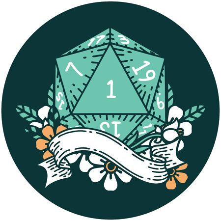 icon of natural one d20 dice roll