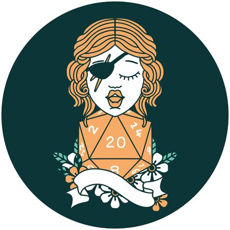 icon of human rogue with natural 20 dice roll