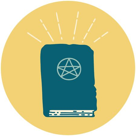 icon of a tattoo style spellbook