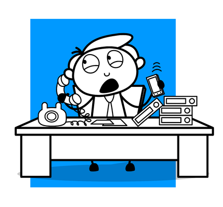 A Executive Talking on Phones with Clients