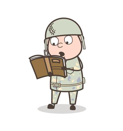 Cartoon Old Person Fearful Face Vector Illustration Stock Illustratie