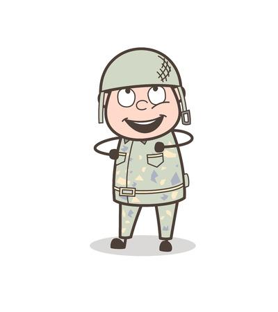 Cartoon Grandpa Neutral Face Expression Vector Illustration  イラスト・ベクター素材