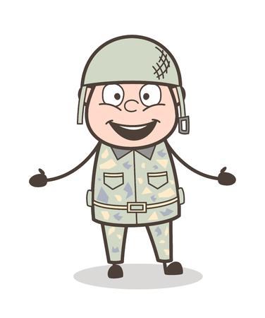 Cartoon Grandpa Running in Aggression Vector Illustration Illustration