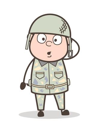 Cartoon Shouting Grandpa Expression Vector Illustration Illustration