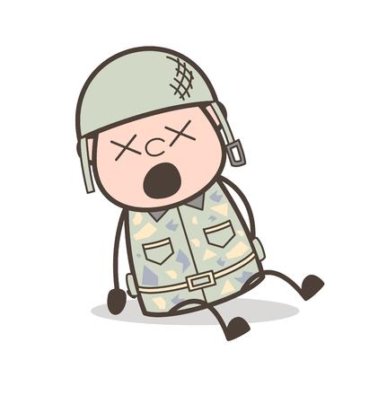 Cartoon Joyful Grandpa Expression Vector Concept