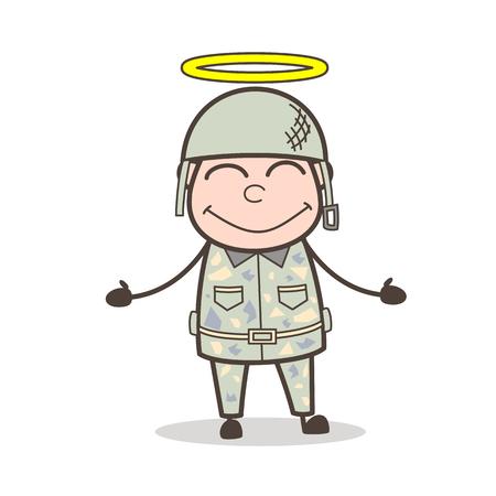 Cartoon Cheerful Grandpa Showing Something Vector Illustration Stock Vector - 83657114