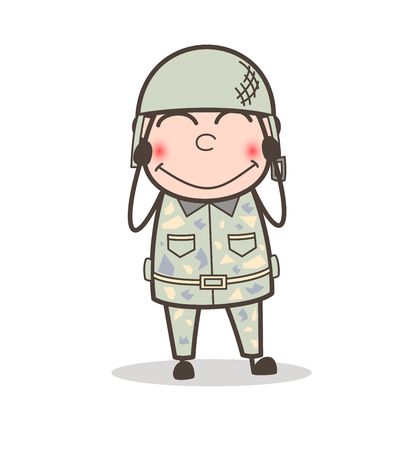 Cartoon Super Rescuer Grandpa Smiling Expression Stock Vector - 83657116