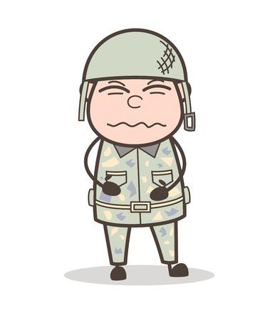Cartoon Helpless Grandpa Vector Character