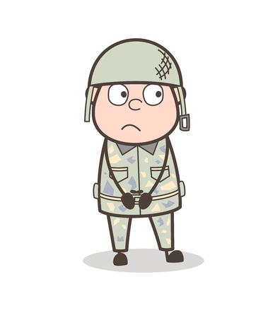 Cartoon Grandpa Getting Hurt by Hit Vector Illustration