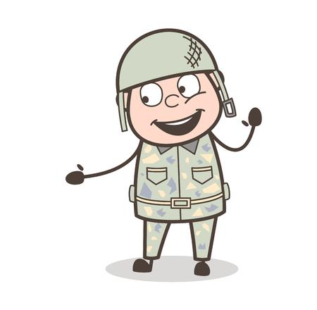 Grand-papa de bande dessinée avec une langue enfoncée et un oeil d'oeil Banque d'images - 83657137