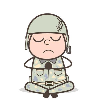 Cartoon Sleepy Grandpa Vector Expression