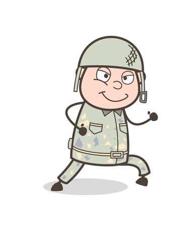 Cartoon Grand Uncle Zipped-Mouth Face Vector Illustration Иллюстрация