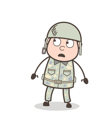 Cartoon Granddad Crying Face Vector Illustration Illustration