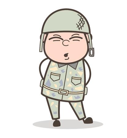 Cartoon Grandfather Smiley Face Vector Illustration Stock Vector - 83657177